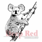 Deep Red Cling Stamp - Koala Bear