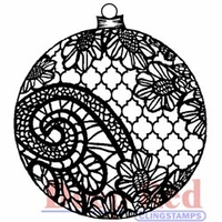 Deep Red Stamp - Lace Ornament