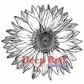 Deep Red Stamp - Large Sunflower