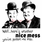 Deep Red Cling Stamp - Laurel & Hardy - Nice Mess
