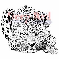 Deep Red Cling Stamp - Leopard