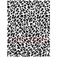 Deep Red Cling Stamp - Leopard Print Background