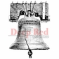 "Deep Red Cling Stamp - Liberty Bell 2""x2"""