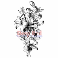 Deep Red Cling Stamp - Lily Cascade