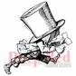 Deep Red Cling Stamp - Mad Hatter Running