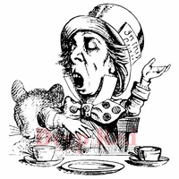 Deep Red Stamp - Mad Hatter Tea Party