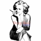 Deep Red Cling Stamp - Marilyn