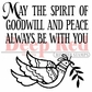 "Deep Red Cling Stamp - May The Spirit 2""x2"""