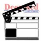 Deep Red Cling Stamp - Movie Clapper