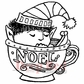 "Deep Red Cling Stamp - Noel Elf 3""x3"""