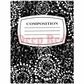 Deep Red Cling Stamp - Notebook Composition Cover