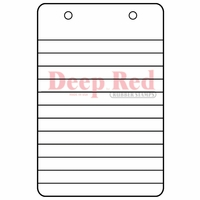 Deep Red Stamp - Notebook Steno Paper