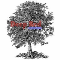 Deep Red Stamp - Oak Tree