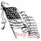 Deep Red Cling Stamp - Old Glory