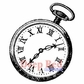 Deep Red Cling Stamp - Pocket Watch