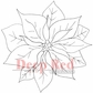 Deep Red Cling Stamp - Poinsettia Bloom