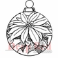 Deep Red Cling Stamp - Poinsettia Ornament