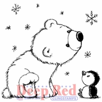 Deep Red Cling Stamp - Polar Friends