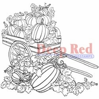 Deep Red Stamp - Pumpkin Harvest