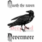 Deep Red Stamp - Quoth The Raven