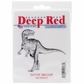 "Deep Red Cling Stamp - Raptor Dinosaur 3""x3"""