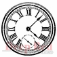 Deep Red Cling Stamp - Roman Clock