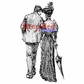 Deep Red Cling Stamp - Romantic Stroll