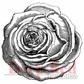 Deep Red Cling Stamp - Rose Engraving