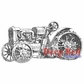 Deep Red Cling Stamp - Rusty Tractor