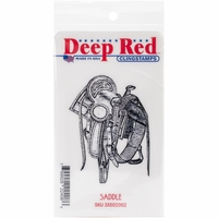 Deep Red Stamp - Saddle