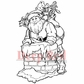 Deep Red Cling Stamp - Santa Claus
