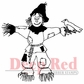 Deep Red Cling Stamp - Scarecrow