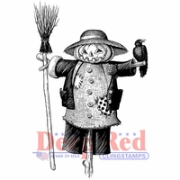 Deep Red Cling Stamp - Scarecrow With Crow