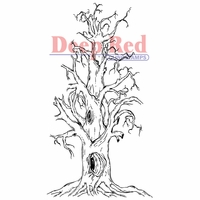 Deep Red Stamp - Scary Tree
