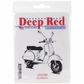 "Deep Red Cling Stamp - Scooter 3""x3"""