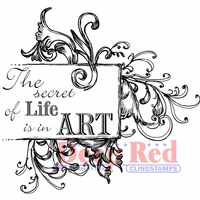 Deep Red Cling Stamp - Secret Of Life