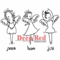 Deep Red Cling Stamp Set - Angels Dancing