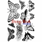 Deep Red Cling Stamp - Butterflies