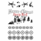 Deep Red Cling Stamp Set - Christmas Holly Borders