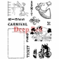 Deep Red Cling Stamp Set - Create A Carnival Ticket