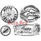 Deep Red Cling Stamp Set - Holiday Grunge