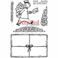 Deep Red Cling Stamp Set - Mailman Postcard