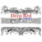 Deep Red Cling Stamp - Ornate Mantels
