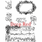 Deep Red Cling Stamp Set - Potion Labels