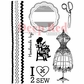 Deep Red Cling Stamp Set - Sewing Handmade By