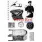 Deep Red Cling Stamp - Vintage Postal