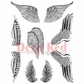 Deep Red Cling Stamp Set - Wings