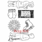 Deep Red Cling Stamp Set - Winter Fun