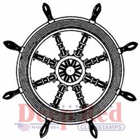 Deep Red Cling Stamp - Ships Wheel