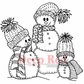 Deep Red Cling Stamp - Snow Family